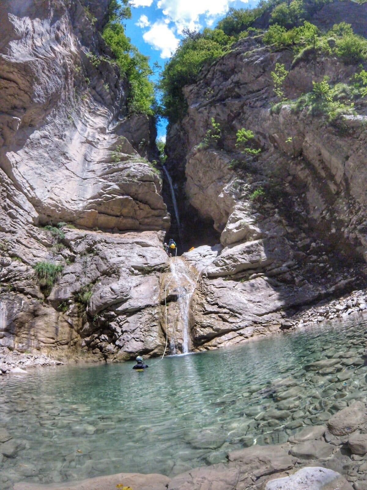 canyoning rio frondizon