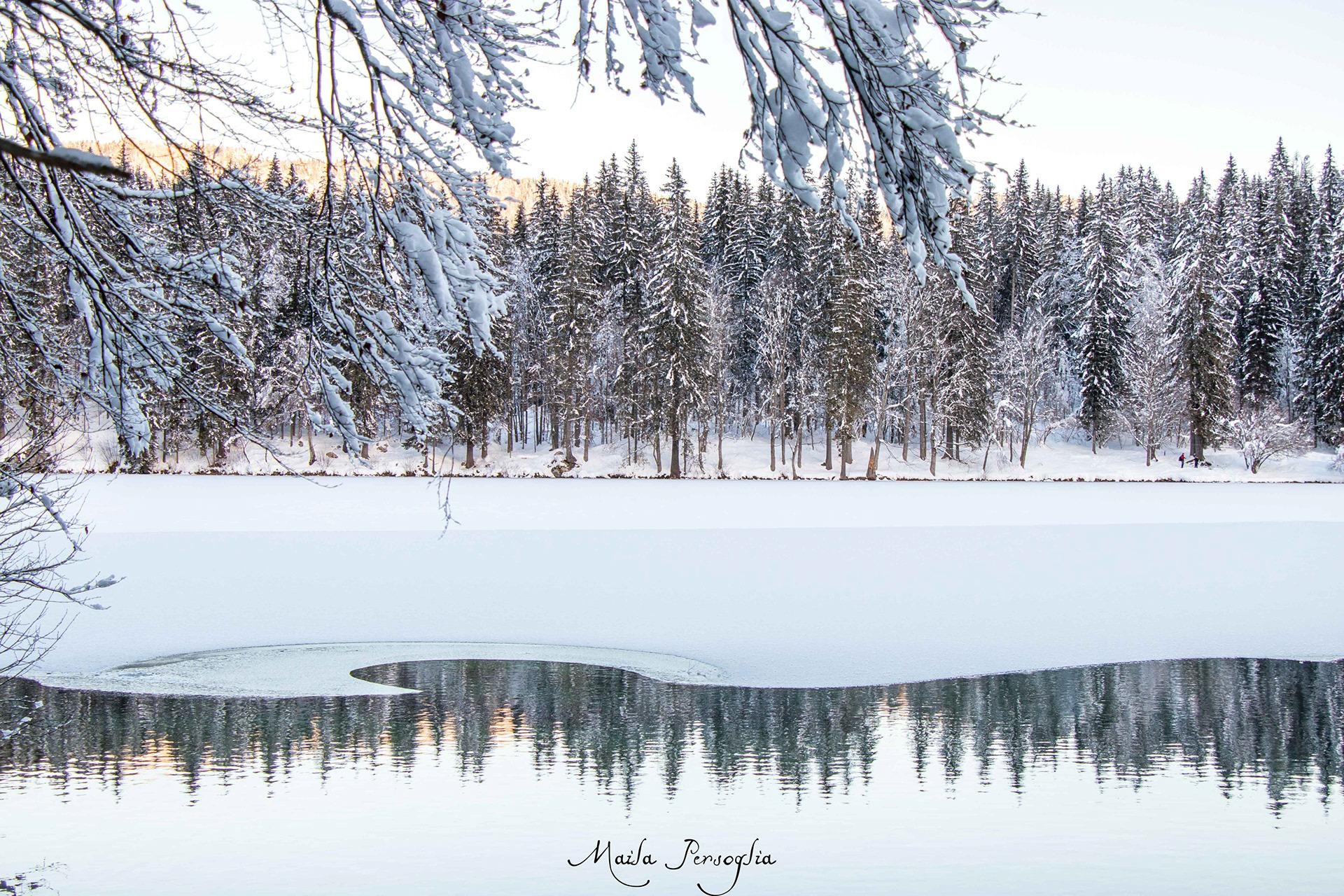laghi di fusine inverno neve
